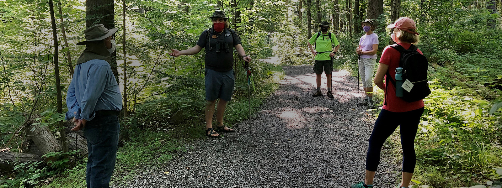 Olli members enjoy a socially distant hike