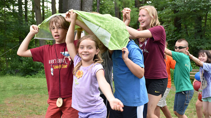 Summer camp kids at Shaver's Creek Environmental Center